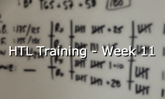 HTL Training – Week 11