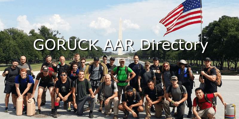 GORUCK AAR Directory