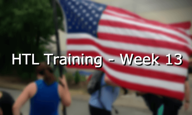 HTL Training – Week 13