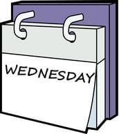 day week calendar wednesday clipart